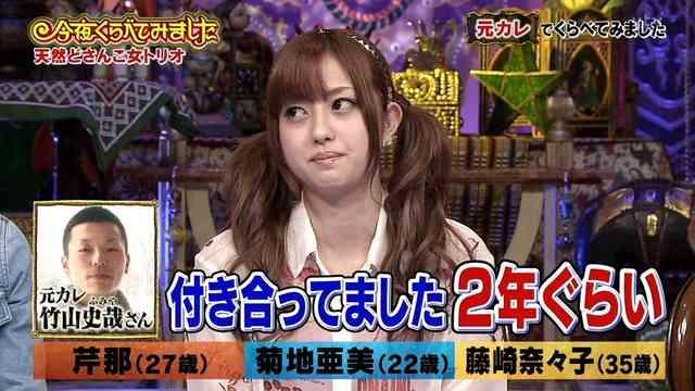 アイドリング!!!菊地亜美 テレビに初カレ登場で赤面