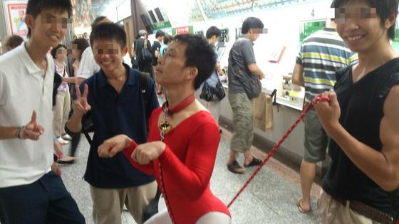 """【衝撃】以前、警察に捕まった""""レオタード男""""が今度は横浜駅に登場!!"""