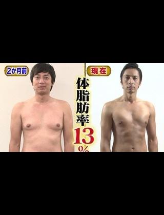 チュートリアル・徳井義実がダイエットで激ヤセした方法 これができれば2ヵ月で体重-10kg、体脂肪率-14%!