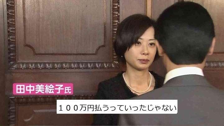元小沢ガールズ・田中美絵子が暴露した、男性議員に関係を迫られた際に提示された金額(((( ;゚Д゚)))