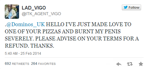 「ピザと性行為をしたら火傷をした。どうしてくれる」ドミノピザと顧客のツイッターのやり取りが話題に