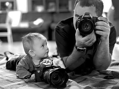 可愛いモノクロ写真