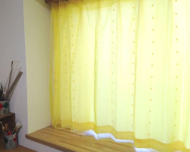あなたの部屋のカーテンの色(柄)は?