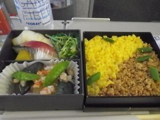 世界の機内食:D