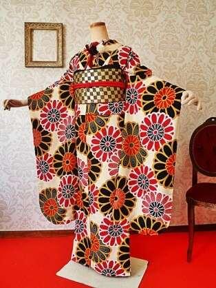 美しい着物を貼るトピ