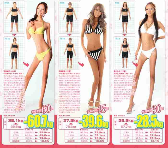 2ヶ月で60kg痩せるダイエット薬の広告がひどいww