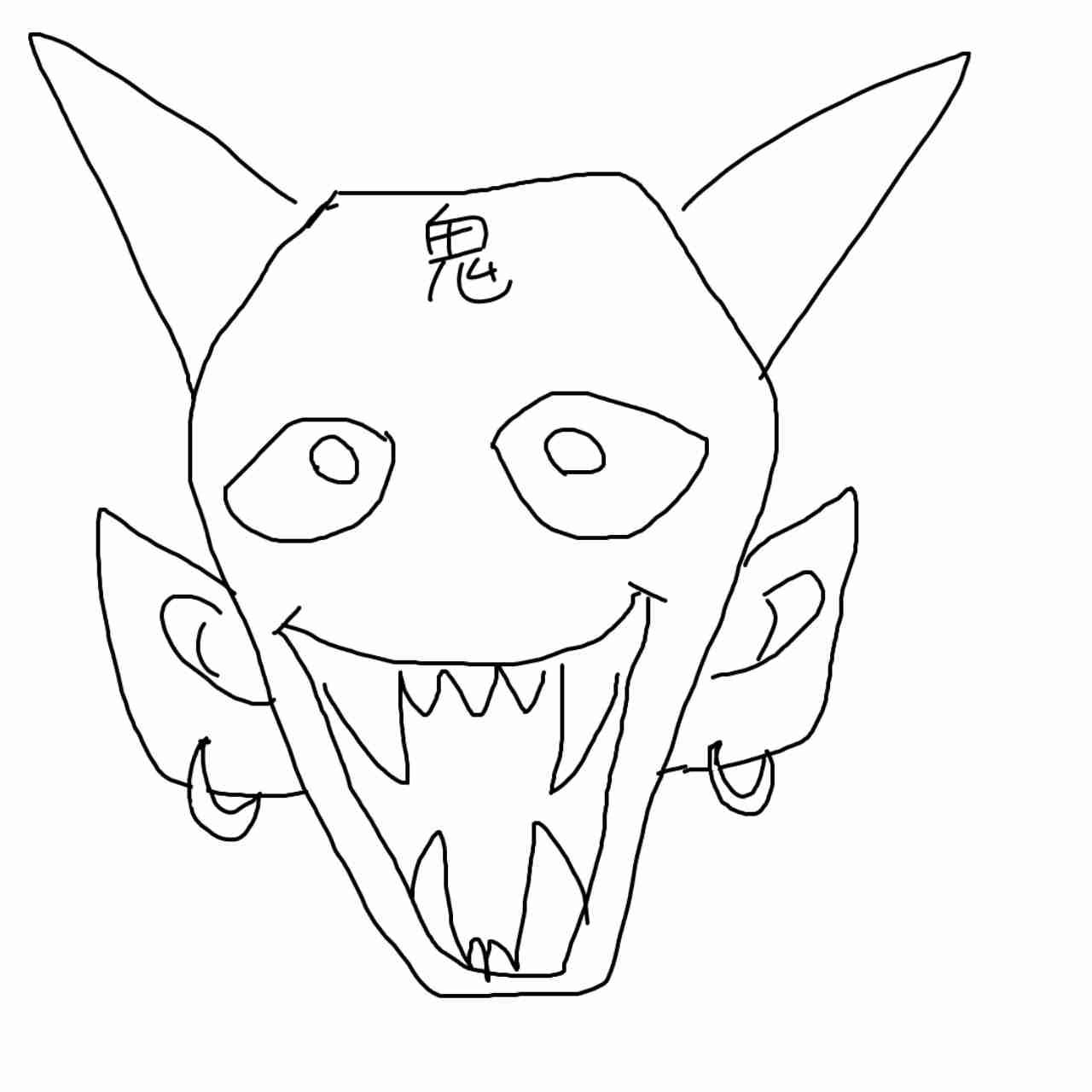 何も見ずに鬼の絵を描いてみるトピ