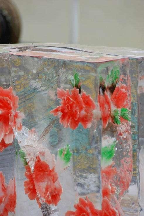 【閲覧注意】札幌雪まつりで魚を閉じ込めた竜宮城の氷像が展示される