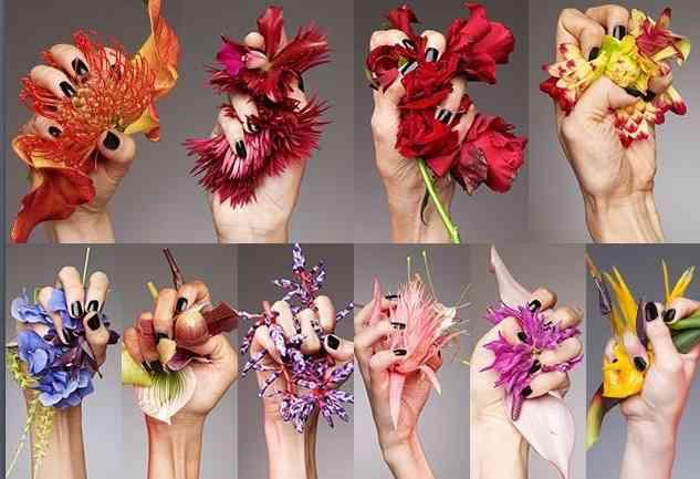 花柄が好きな人ー!