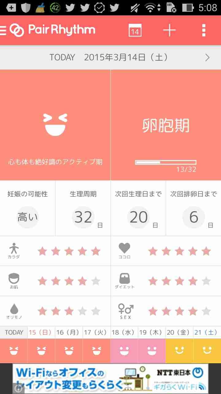生理日予測アプリ、何使ってますか?
