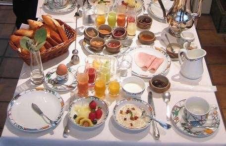 朝食の時の服装