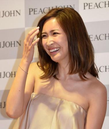 紗栄子の明るい笑顔