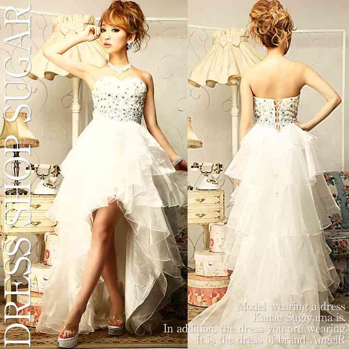 ミニ丈ウェディングドレスで結婚式した・したい人!