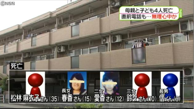 母親が知人男性に自殺をほのめかす…部屋に家族5人の遺体、無理心中か