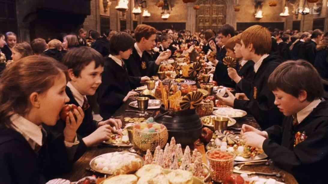 ハリーポッターの食事シーン