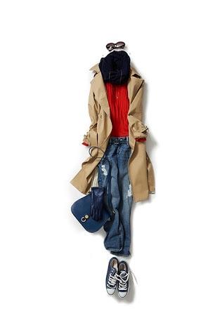 「キャメル」を取り入れたファッションコーディネート