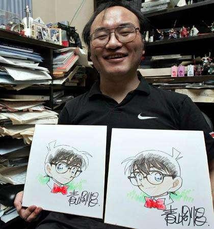 漫画家の顔写真を貼るトピ