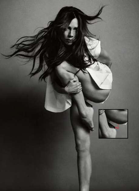 ヴィクトリア・ベッカムの写真に驚きの画像加工ミス