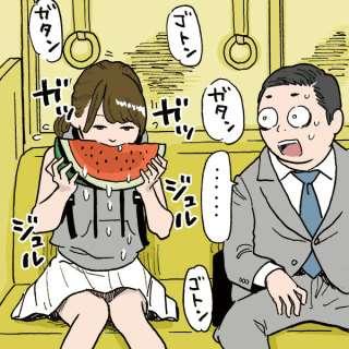 電車の中での飲食について