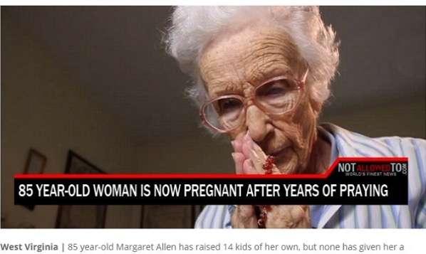 神業!? 85歳の米女性が「祈り」と「性行為」でまさかの自然妊娠!!