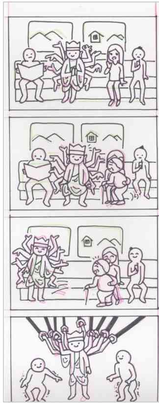面白い4コマ程度の漫画