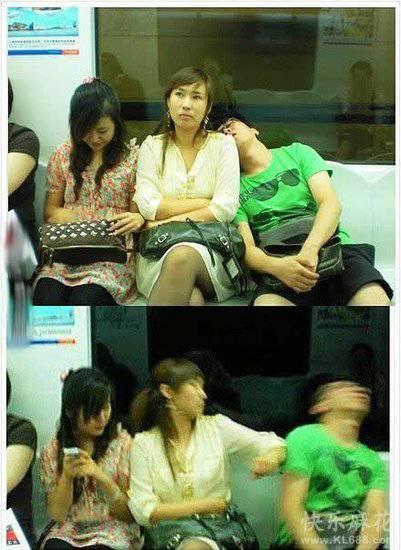 電車で隣の席の人が肩に寄りかかってきた時の対処法
