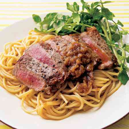 美味しそうなお肉のパスタ・スパゲッティー