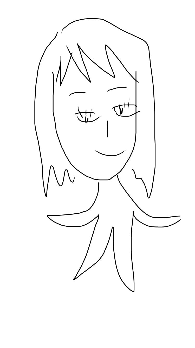 女の子の絵を描くトピ3