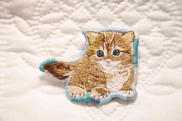 可愛い刺繍の画像