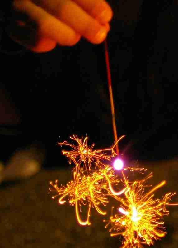 手持ち花火が好きだ。