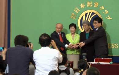 マック赤坂氏「ちょっと待った!」都知事選候補者討論会に乱入も退場処分