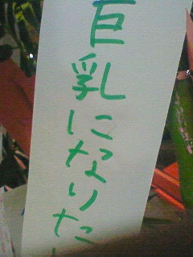 【七夕】ちょっと面白い願い事