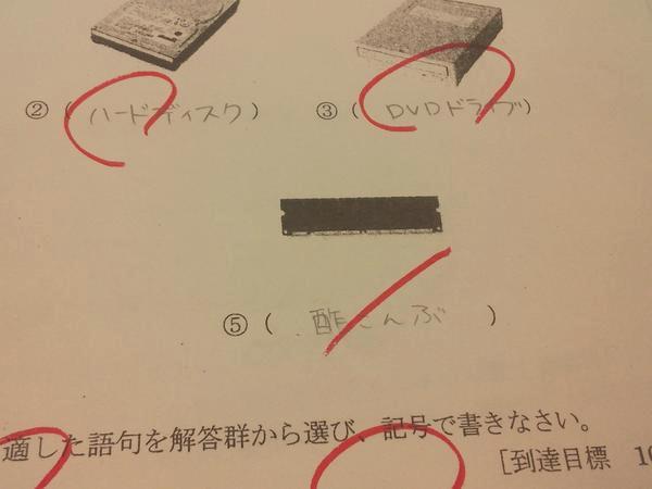 爆笑したテストの珍解答