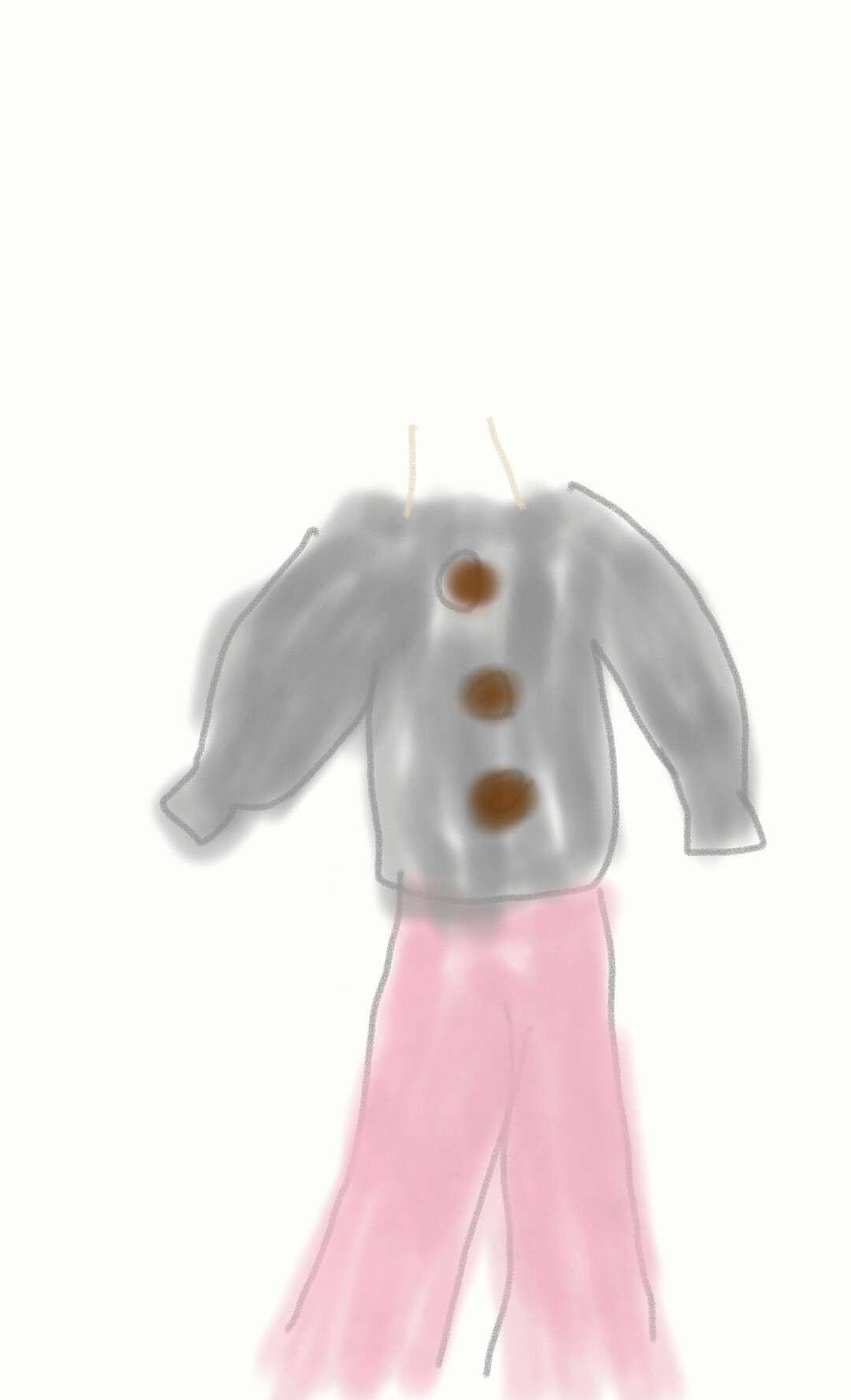 今の服装を絵に描こう!