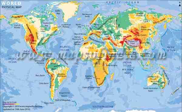 人口の数に比例して国土の大きさを置き換えるとどうなるのか?世界地図を人口で置き換えてみた