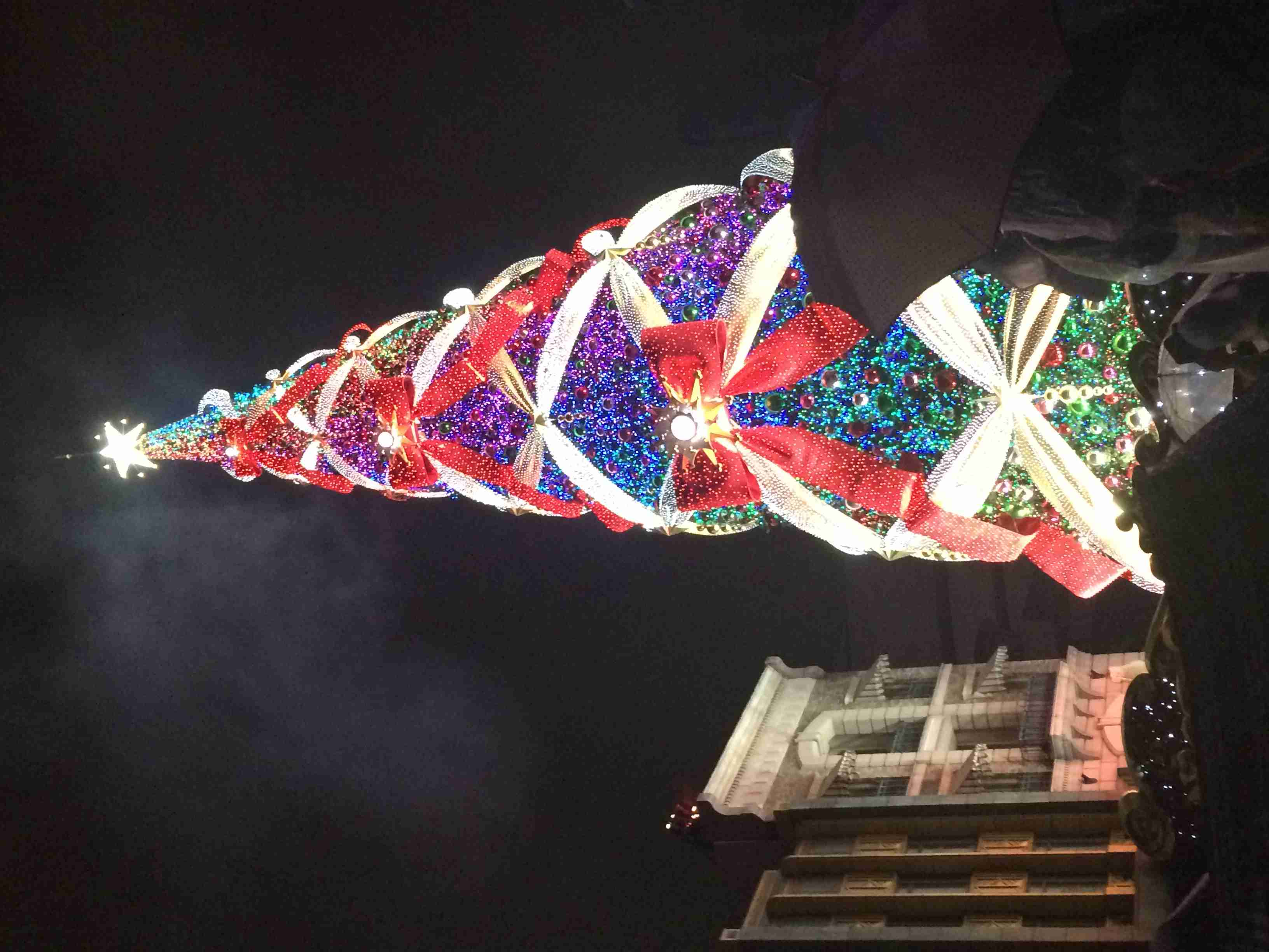 """今年で見納め…USJ「一生に一度は見たいクリスマスツリー」 最後の""""初点灯""""に歓声"""