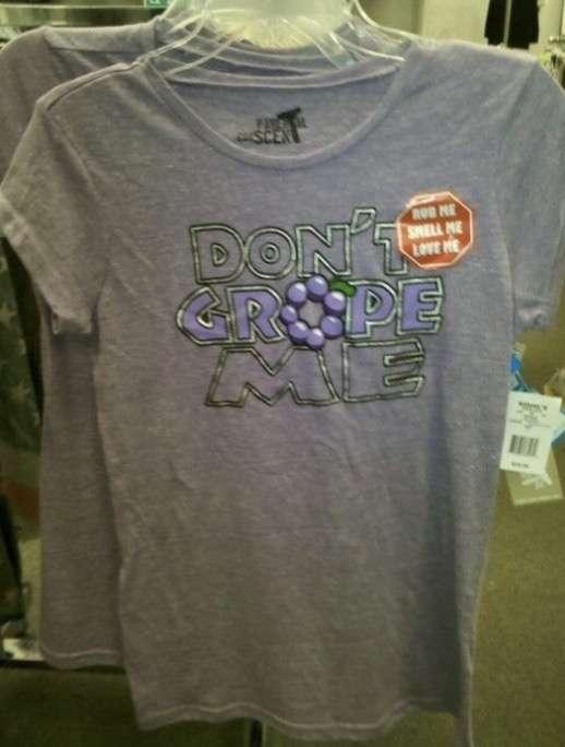 変な意味の英字プリントTシャツ