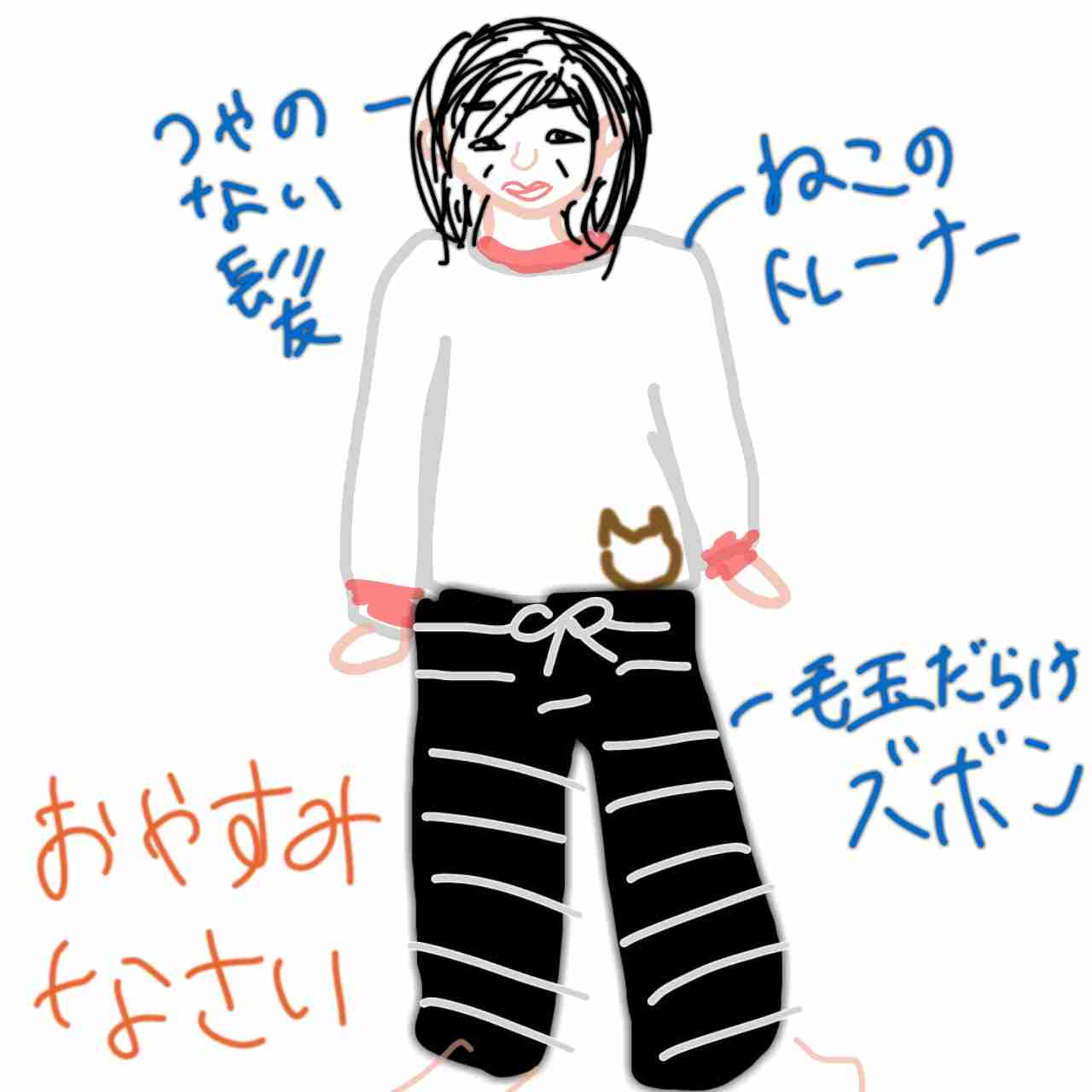 今の服装を描くトピ