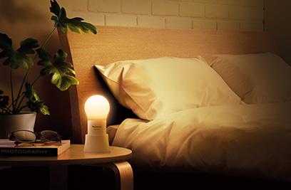 寝るときの照明