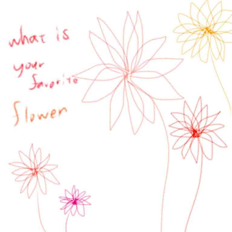 花や緑を描くトピ【絵】