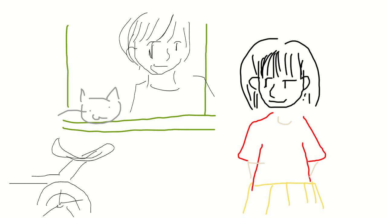記憶を頼りに映画のワンシーンを描くトピ