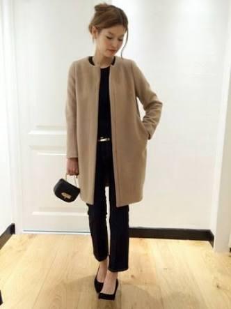 肩幅広い人のコート