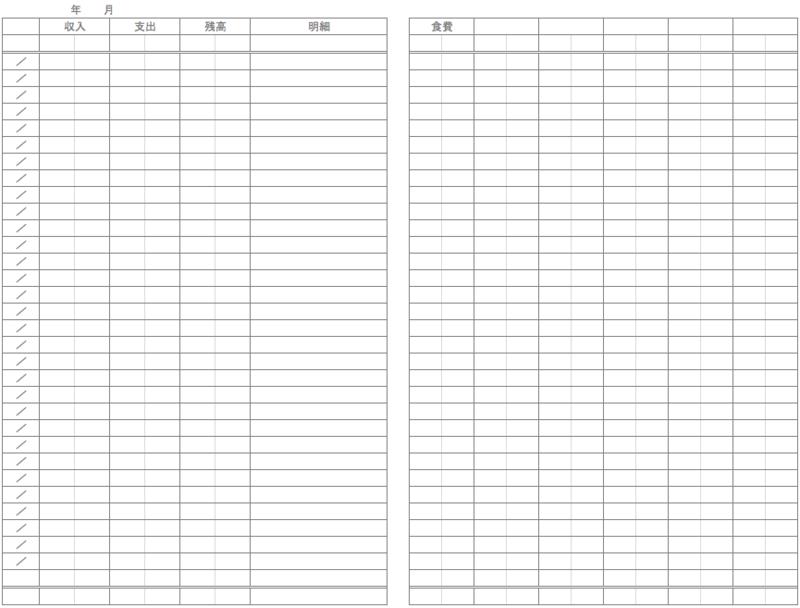 今年の家計簿何ですか?