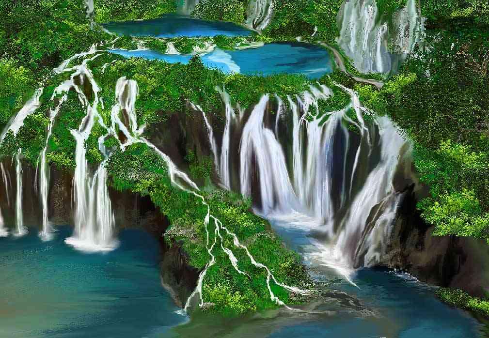 クロアチアの「時が止まったような滝」のショットが神秘的すぎる!