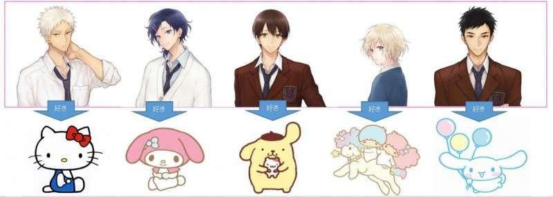 サンリオ男子 テレビアニメ化 18年冬スタート サンリオ好きのイケメン高校生が続々