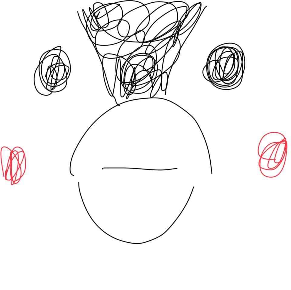 ペットの似顔絵を描くトピ
