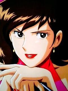 漫画の美しいキャラクターを眺める