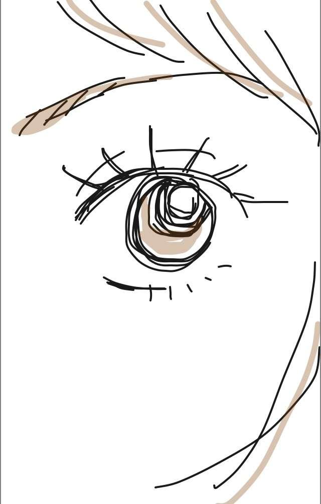 目を描くトピ【お絵かき】