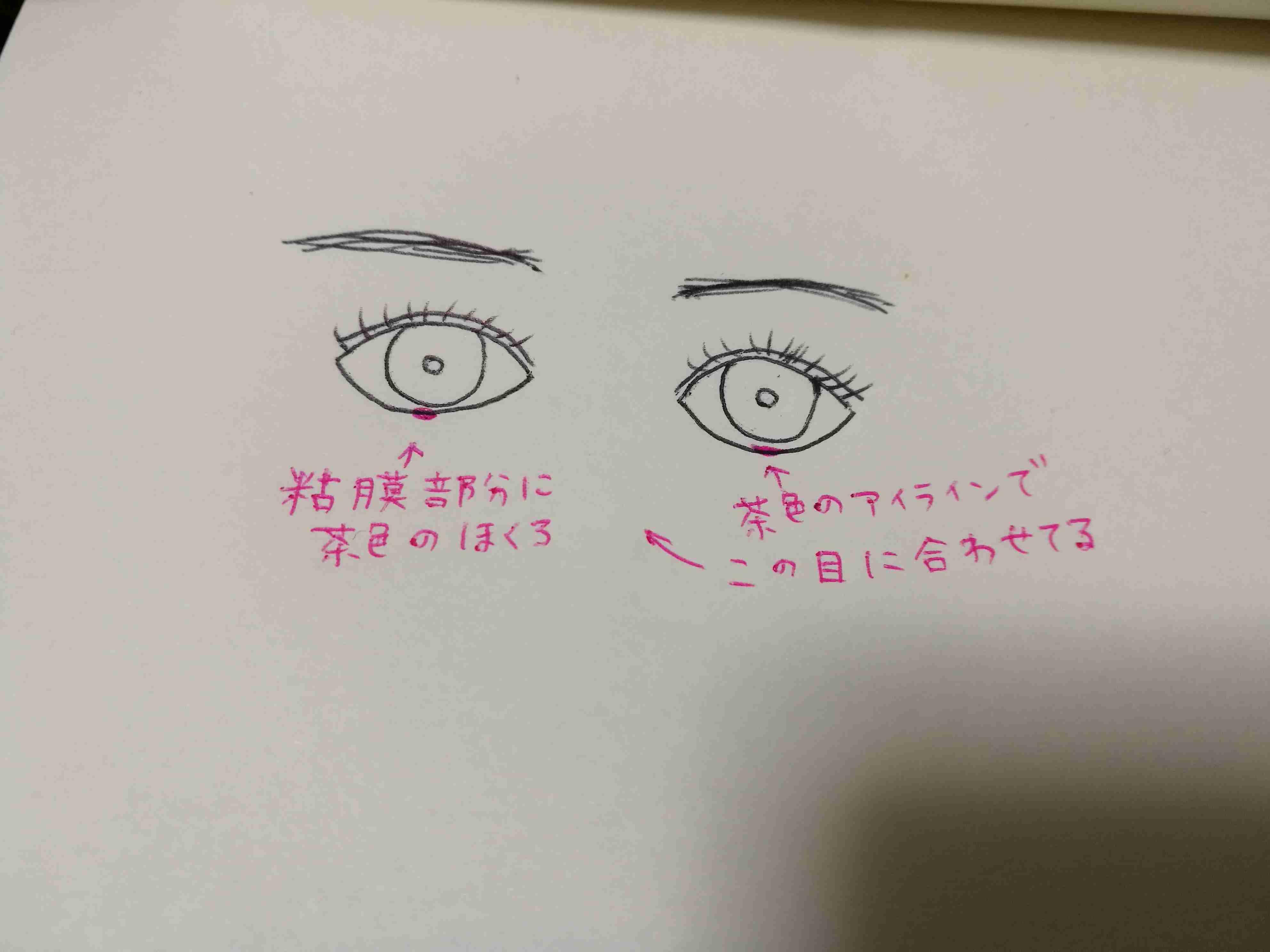 三白眼の色っぽいメイク