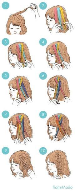 ◆練習◆写真のまとめヘアスタイルに挑戦して、感想を書いてみるトピ